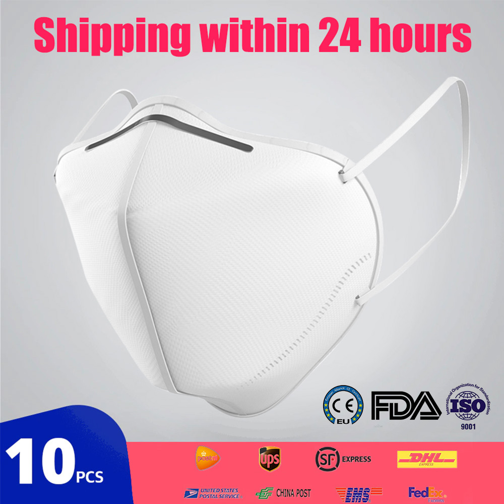 10pcs KN95 Face Dust Mask Dustproof Anti-fog And Breathable Face Mask 95% Filtration N95 Mask Respirator KF94 FFP2 Fashion Mask