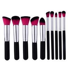 ELECOOL 10/5 шт. Pro для основы под макияж, крем-пудры кисть для румян Кисть для макияжа Набор Для женщин Красота смешивания кисти для макияжа инструменты