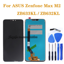 6.26'' brand new high quality for ASUS Zenfone Max M2 ZB633KL ZB632KL LCD display + touch screen digitizer assembly repair parts цена