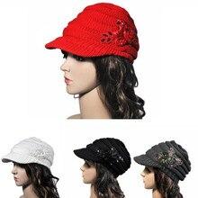 Женская Корейская версия новой зимней дамы шляпа поля блесток аппликация для девочек шапка вязаные шапочки шапка Брендовая женская шапка