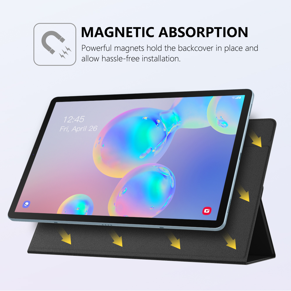 Smart Folio Case For Samsung Galaxy Tab S6 10.5 2019,Slim Lightweight Smart Shell Stand Cover,Strong Magnetic Adsorption for Tab 4