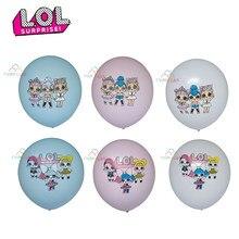 Surpresa boneca lol látex balão de alumínio decorações de natal crianças aniversário fontes fundo balão inflável presentes