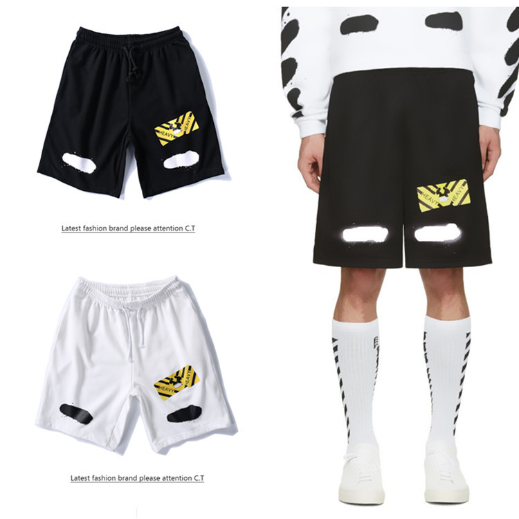 Europe And America Graffiti Fashion & Sports Loose Casual Hip Hop Shorts Men And Women COUPLE'S Shorts