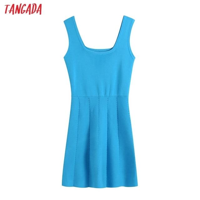 Tangada 2021 Summer Women Striped Oversized Robe Dress Short Sleeve Ladies Midi Dress Vestidos CE175 6