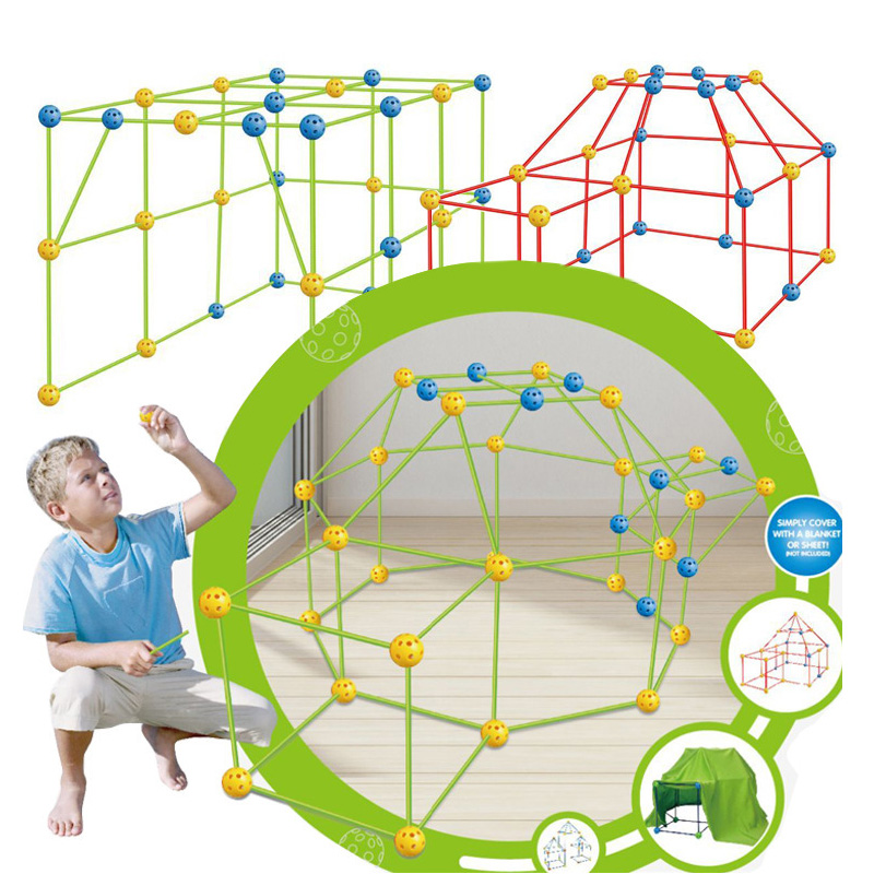 Obuby Kids Construction Fortress Building Kit