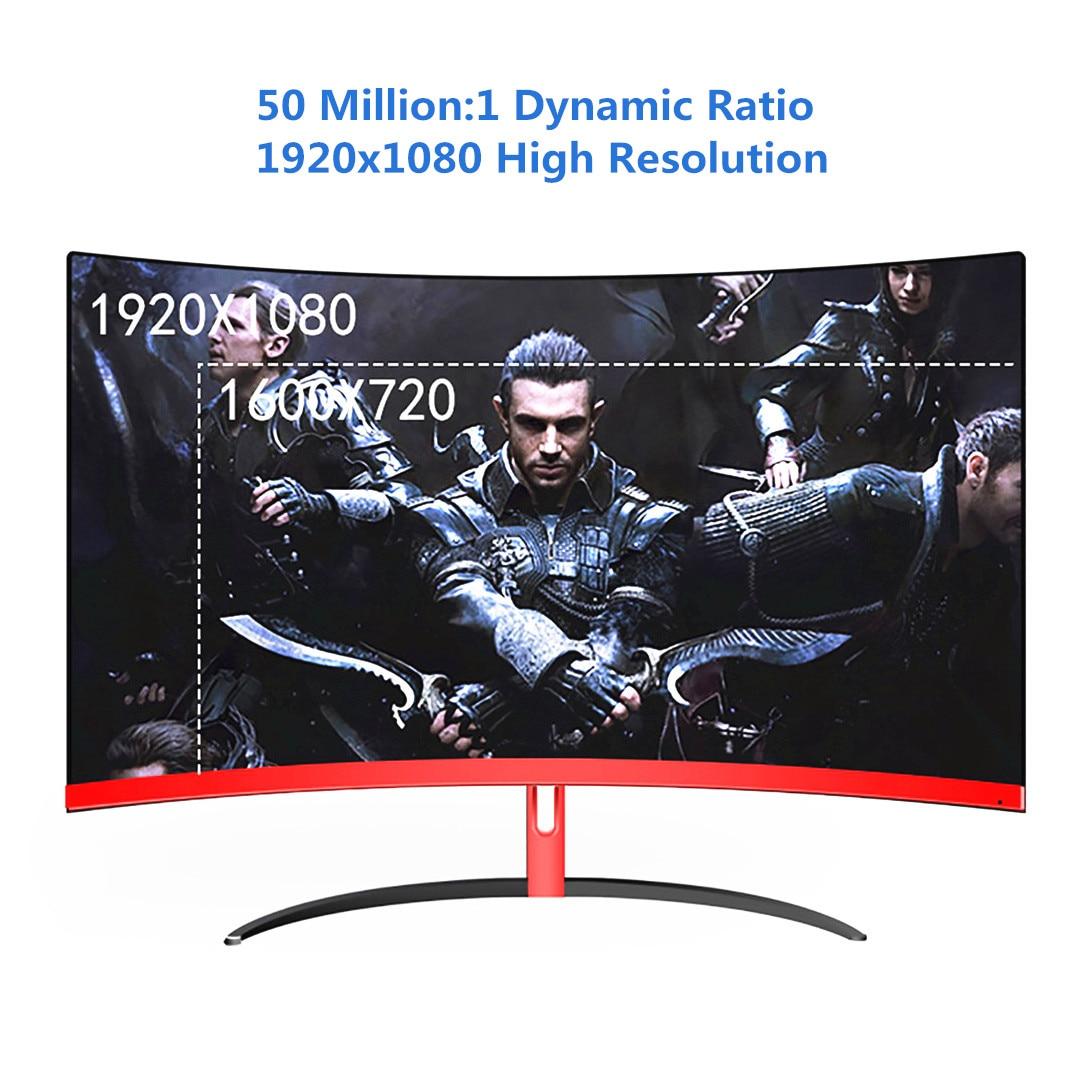 Wearson 1800R 32 дюймов изогнутый широкий экран ЖК монитор для игр флексоральная панель 2 мм боковая Рамка меньше HDMI VGA вход без мерцания - 2