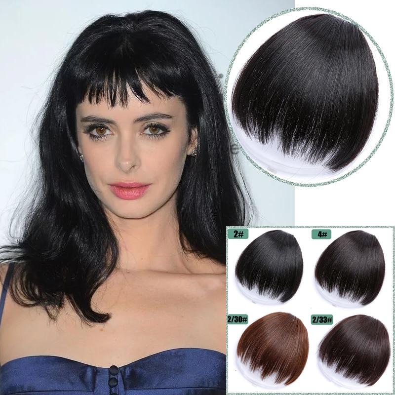 Женские Накладные синтетические волосы, накладные челки, накладные бахромы, заколки для волос, аксессуары для волос, наращивание волос, при...