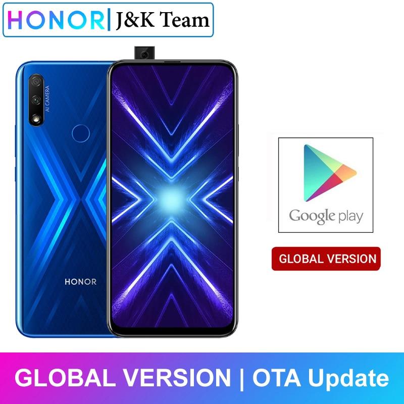 Honor 9X 4GB 128GB Smartphone Global Version 48MP dual caemra Mobile Phone 4000mAh Battery 6.59inch(China)