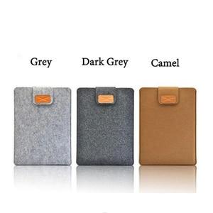 10 8 polegada polegada 2 Macio Sleeve Case Bolsa para iPad/3/4 Notebook Capa para Samsung Galaxy tab 8.0 T380 T385 T580 Felt Pure para a Tabela