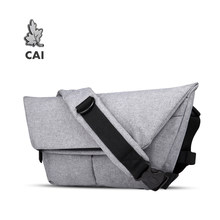CAI Messenger Shoulder Fashion Bag Strap Flap Crossbody Casual School Bags for Teenager Boys Girls Handbags Men Waterproof(China)
