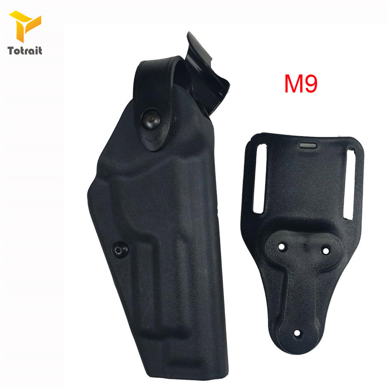 Image 5 - Totrait Military Army Tactical Safariland Holster M9 GL17 1911 USP P226 Gun Carry Case Right Hand Quick Drop Gun Belt HolsterHolsters   -