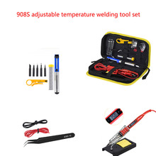908S adjustable temperature welding tool set  LCD solder welding tools Ceramic heater soldering tips Desoldering Pump