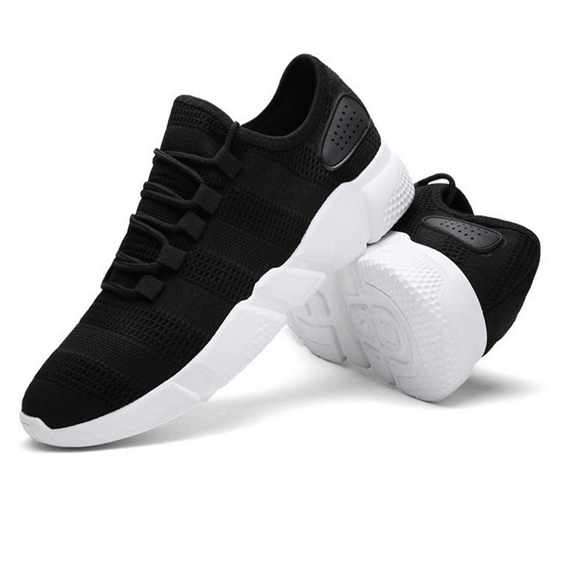 Big Fire Sales Running Shoes Men Breathable Comfortable Air Mesh Lightweight Outdoor Sports Shoes Black White Men Sneakers