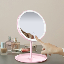 3-Color LED Adjustable Daylight Makeup Mirror Rechargeable Makeup Mirror Table Lamp Touch Sensor Portable Brightness With Light rechargeable motion sensor light mirror led makeup mirror rotation infrared induction makeup mirror battery operated or usb ca
