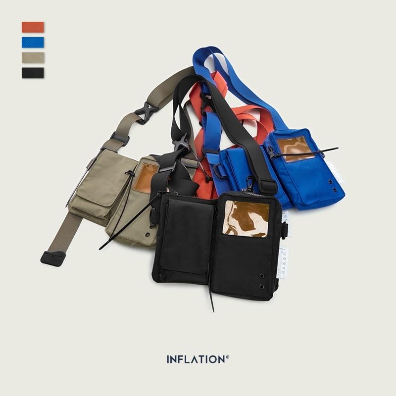 INFLATION Design PVC Unisex Messenger Shoulder Bag Streetwear Outdoor Detachable Men Women Transparent Crossbody Bag 227AI2019
