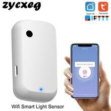 Tuya wi fi inteligente sensor de luz casa inteligente luz automação sentido controle ligação sensor luz automática