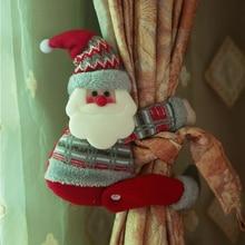 Christmas Cartoon Santa Claus Snowman Elk Curtain Buckle Bedroom Hook Fastener Clamp Home Room Decoration NEW