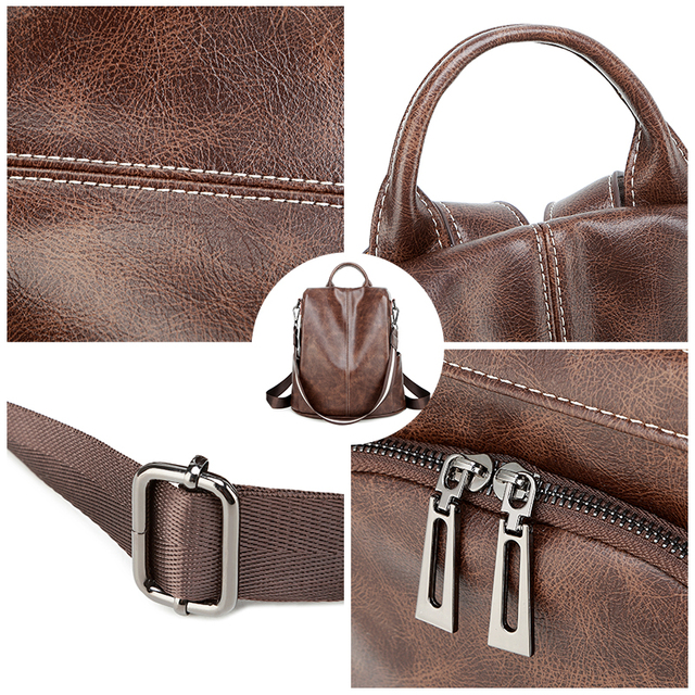 Anti-thief school backpack