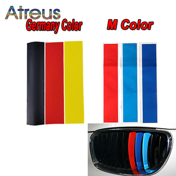 3pcs Germany M color Kidney Grille Car Stickers For BMW X5 E53 E70 X1 E84 F07 G30 F22 F32 F45 E87 F20 E88 E82 E46 Coupe F36 F31 image