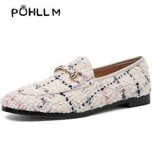 PUHLLM สีชมพู Falts รองเท้าผู้หญิง 2019 ฤดูใบไม้ร่วงสุภาพสตรี Falts รองเท้าหนังแกะซับรอบ Toe แฟชั่นรองเท้าสตรี SLIP  ons D19