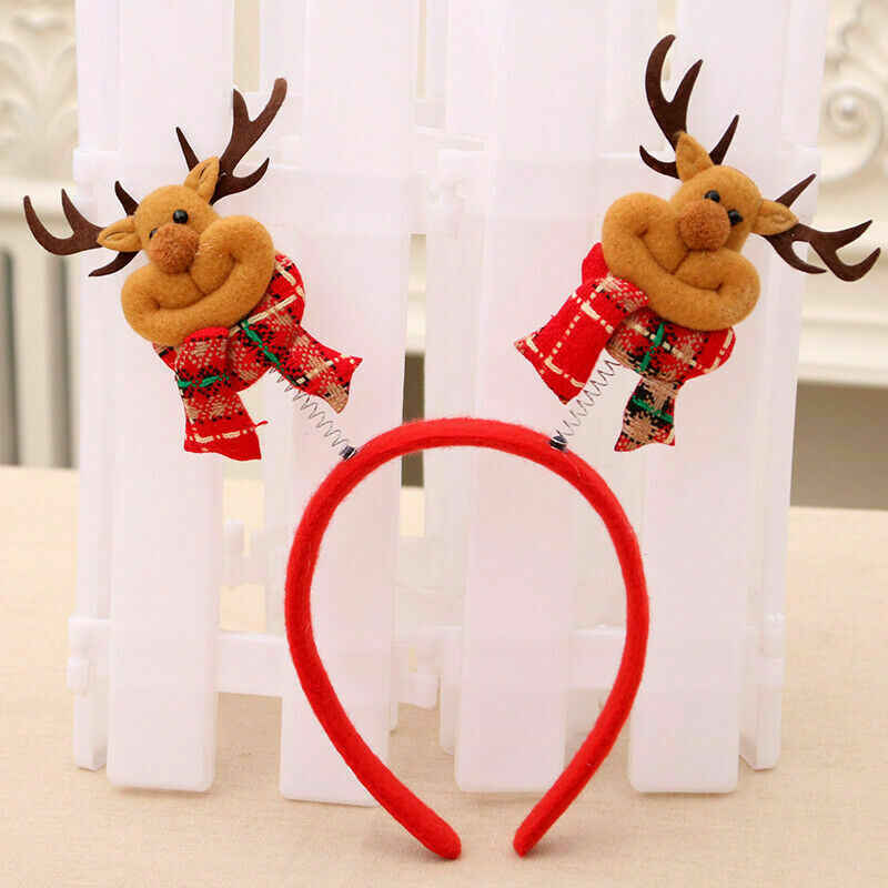 1pcs Christmas Headband คริสต์มาสกวางหู Santa Xmas Hair Band Clasp Headwear Santa Xmas PARTY Decor