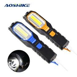 AOSHIKE-lampe d'inspection magnétique | 1 lampe de travail de chargement USB Rechargeable, Flash lumineux de travail d'urgence