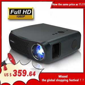 Image 1 - CAIWEI كامل HD العارض A12 1920x1080P أندرويد 6.0 (2G + 16G) واي فاي LED جهاز عرض صغير السينما المنزلية HDMI ثلاثية الأبعاد متعاطي المخدرات الفيديو ل 4K