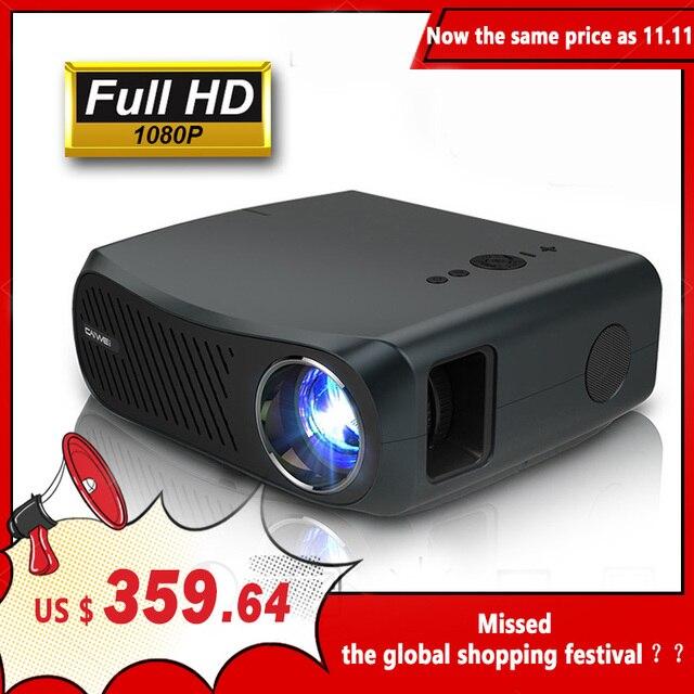 CAIWEI كامل HD العارض A12 1920x1080P أندرويد 6.0 (2G + 16G) واي فاي LED جهاز عرض صغير السينما المنزلية HDMI ثلاثية الأبعاد متعاطي المخدرات الفيديو ل 4K