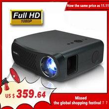 CaiweiフルhdプロジェクターA12 1920 × 1080 1080pアンドロイド6.0 (2グラム + 16グラム) wifi ledミニプロジェクターホームシネマhdmi 3Dビデオ4用18k