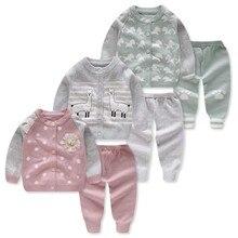 Одежда для новорожденных вязаный кардиган+ штаны-свитер комплект для маленьких мальчиков Одежда для младенцев теплый костюм комплекты свитеров для девочек