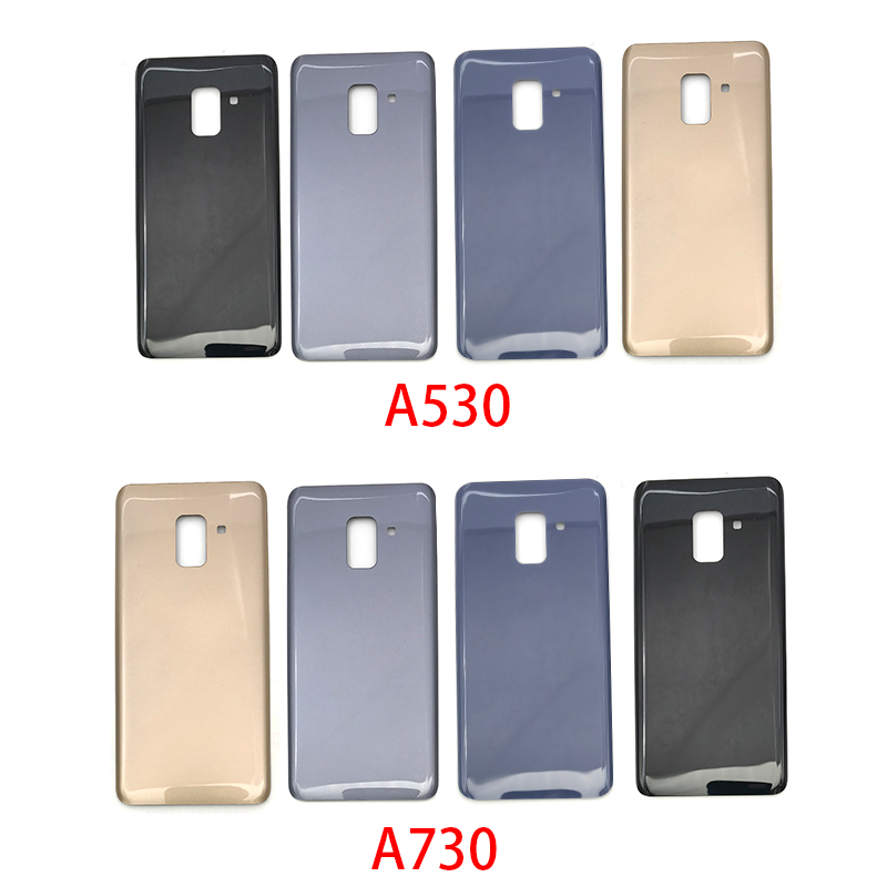 Back Battery Cover Glass For Samsung Galaxy A8 Plus A8+ 2018 A730 A730F A8 A530 A530F Battery Door Housing Battery Back Cover
