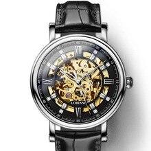 Japan Miyota Movement Watch Men LOBINNI Automatic Mechanical Watches Luxury Sapphire Skeleton Clock relogio masculin 9010M-5