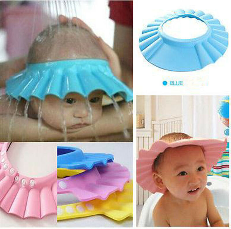 US Safe Shampoo Shower Bath Caps Protect Soft Cap Baby Childrens Kids Unisex Hat