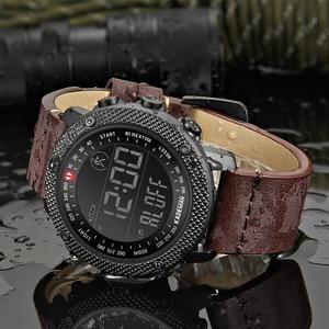 Image 4 - KADEMAN TOP Brand Luxury Men Watch LED Digital Display Sport Mens Watches Waterproof Military Fashion Male Leather Wristwatch