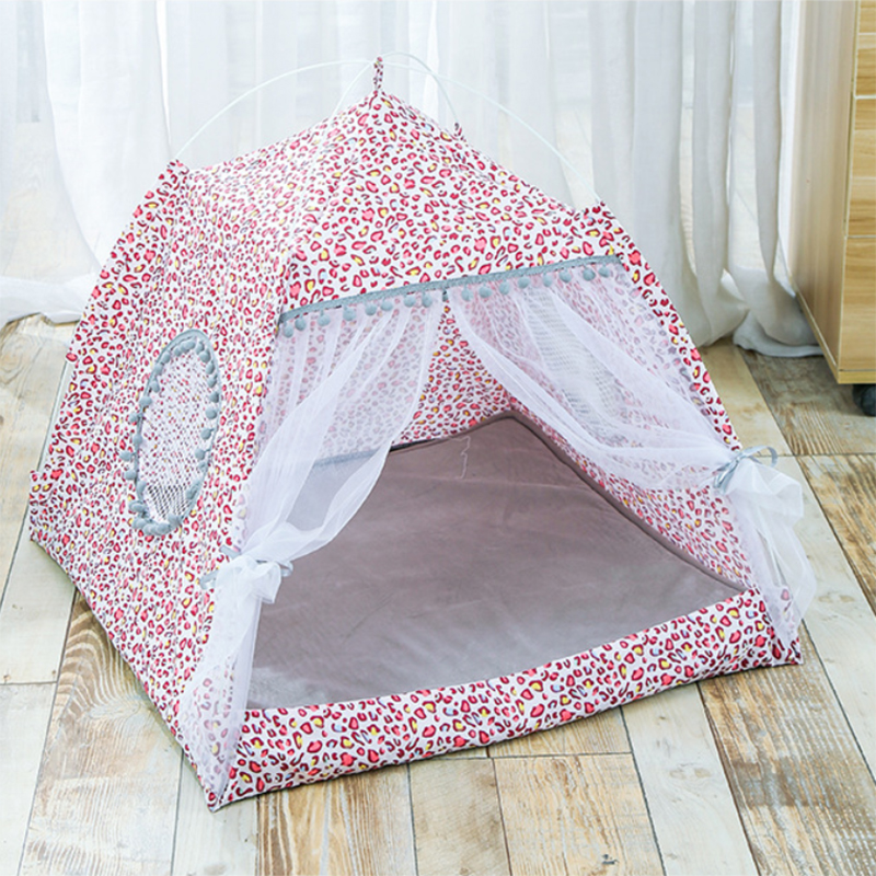 Spring Summer Small Cat Dog Tents Can Be Removed And Washed Pet Kennels Portable Kennels Pet Tent Houses For Small Dogs