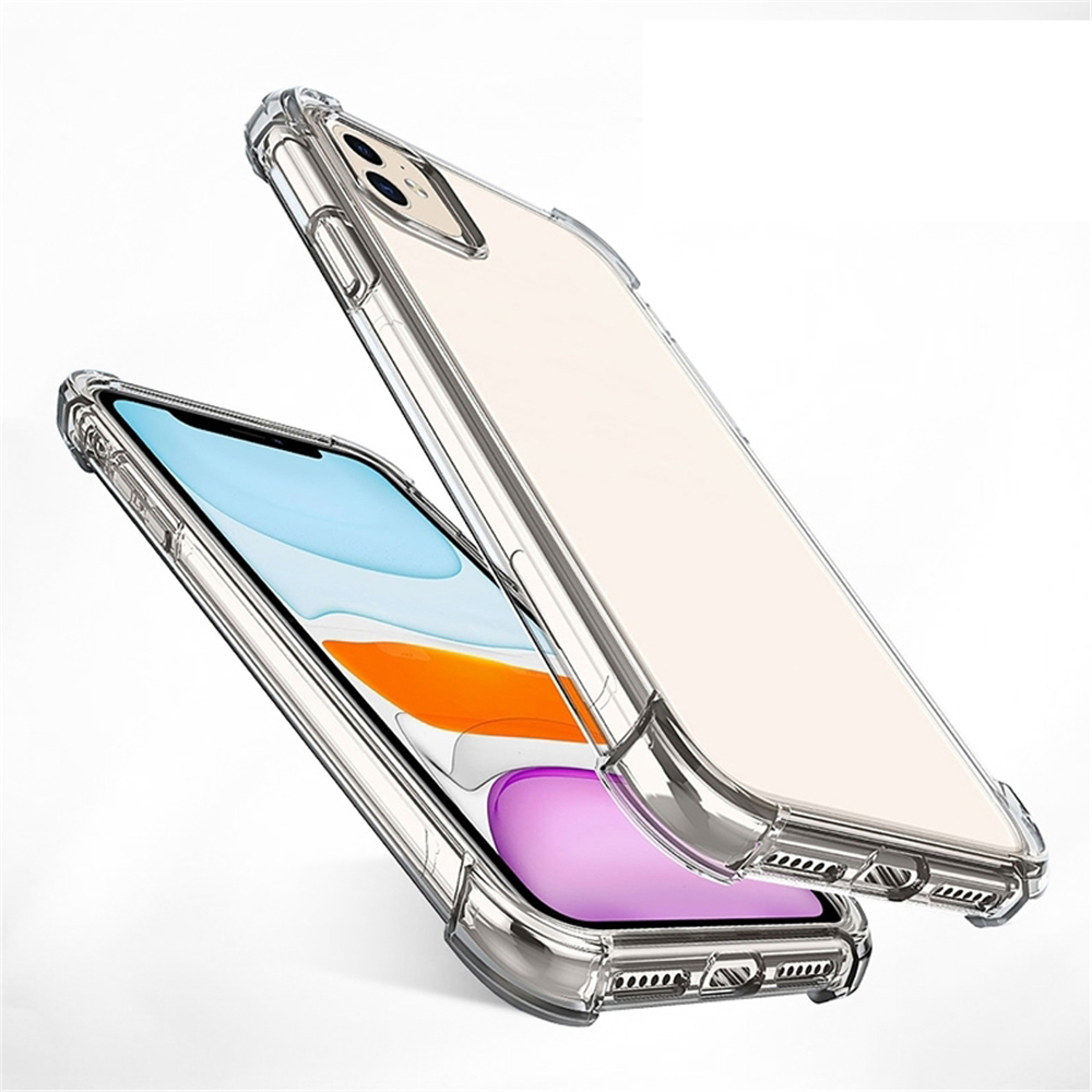 Silicone Airbag Phone Case For iPhone 11 Pro XS Max SE 2020 XR X XS 8 7 6 6S Plus TPU Soft Transparent Case Cover Clear Coque