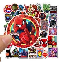 50pcs/set Avengers Endgame Stickers Marvel Toys Super Hero Hulk Iron Man Spiderman Captain American Car Sticker for Luggage Kids