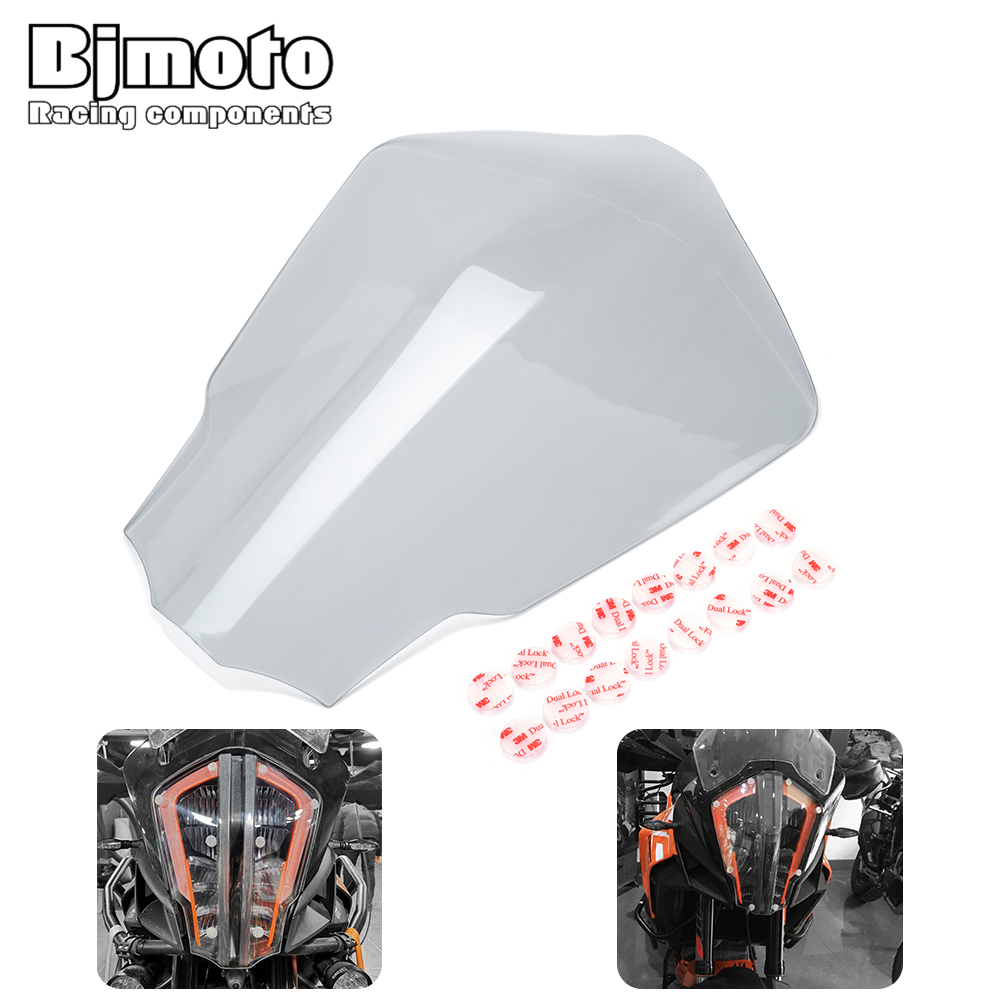New <font><b>Super</b></font> Headlight Lens Cover Shield lamp protective guard protector ABS For <font><b>KTM</b></font> <font><b>1290</b></font> <font><b>SUPER</b></font> <font><b>ADVENTURE</b></font> R / <font><b>S</b></font> / T 2017 2018 <font><b>2019</b></font> image