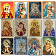 Nayachic 3D Diamond Mosaic Religious Full Circular Drill Decoration Home 5D DIY Embroidery  Painting Cross Stitch Religion Icon nayachic 3d diamond mosaic religious full circular drill decoration home 5d diy embroidery painting cross stitch religion icon