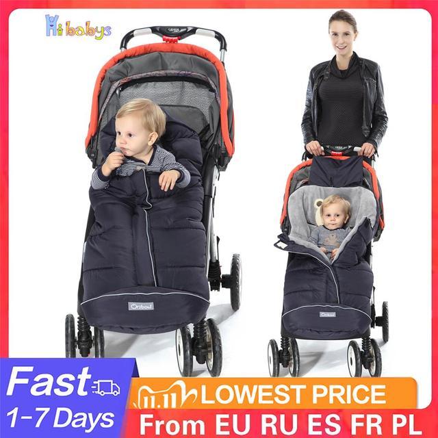 Saco de dormir do bebê do inverno cocoon sleepsacks macio quente envelope para carrinho de bebê recém nascido sacos de dormir com footmuff para pram