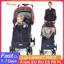 Zimowy śpiwór dla dziecka śpiwory dla niemowląt kokon miękkie ciepłe rożek dla noworodka wózek śpiwory z podnóżkiem do wózka