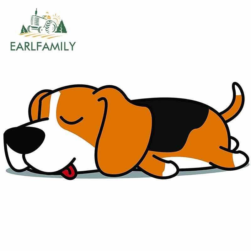DSRLO Autoaufkleber 13 cm x 12,1 cm 3D Beagle Autoaufkleber Zerrissenes Metall Haustier Hund Aufkleber reflektierende Aufkleber Wasserdichtes Auto Styling Zubeh/ör