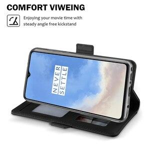 Image 3 - Voor Oneplus 7T 8 Case Luxe Lederen Portemonnee Flip Stand Cover Met Spiegel Shell Voor Oneplus 7T Een plus 7T 8 Pro Case Card Slot