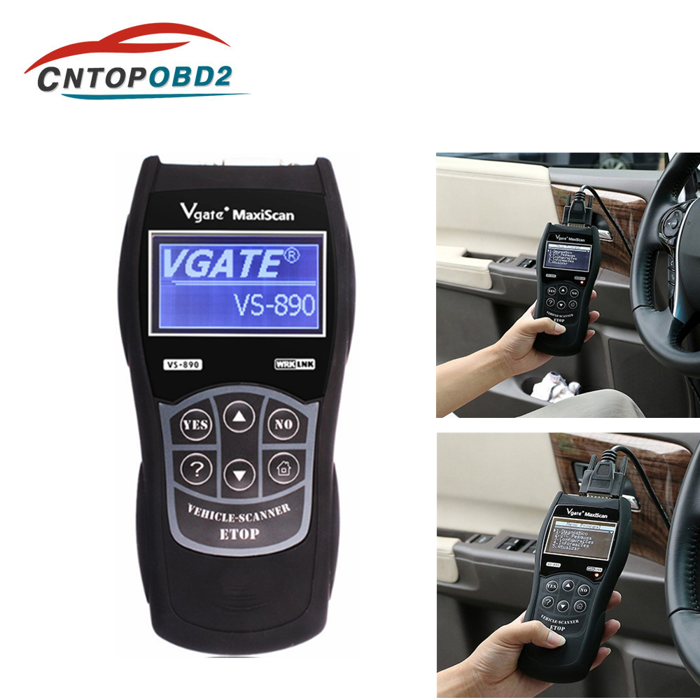 Vgate VS890 OBD2 Scanner Code Reader Analyzer Universal Car Diagnostic Tool Maxiscan OBDII Support CAN Protocols Better ELM327