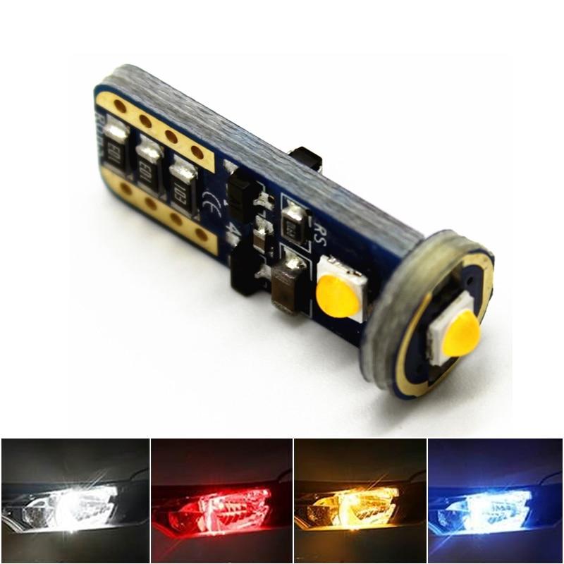 10 шт., Автомобильные светодиодные лампы T10 W5W 194 168 CANBUS 3030 3SMD