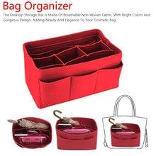 Women Fashion Felt Cloth Handbag Insert Bag Makeup Organizer Travel Portable Cosmetic Bags Storage Inner Purse Fit in Speed