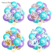 Twins Party Little Mermaid Balloons Confetti Ballons Wedding Ballons Kids Birthday Party Decorations Baby Shower Supplies стоимость