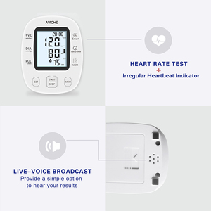 Image 2 - AVICHE Professional Automatic Digital Arm Blood Pressure Monitor Backlit LCD Display Talking Medical Device Sphygmomanometer