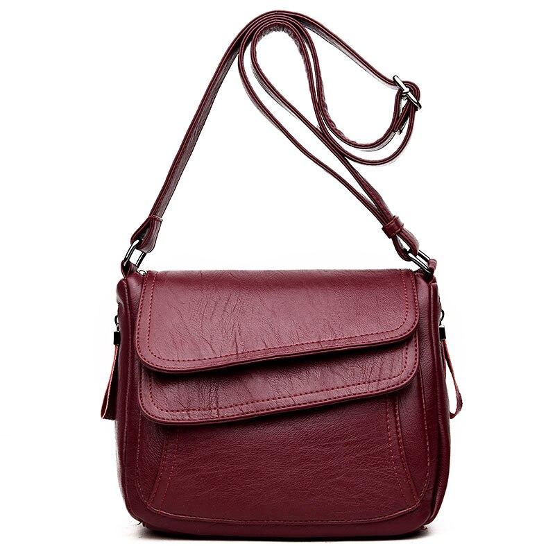 Hot Sale 2019 Women Messenger Bags Luxury Handbags Women Bags Designer High Quality Leather Crossbody Shoulder Bags Sac A Main