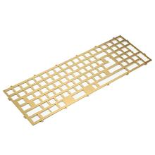 YMDK Melody 96 PVD Brass Plate Aluminum Plate Acrylic Bottom For Melody 96 Case Keyboard